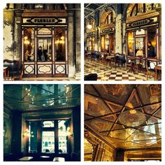 Godard Girl : The Taxonomies of Design - The ice cream hues of Venice through the aperture. Cafe Florian, nineteenth century Liberty architecture, opulence.