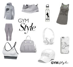 """Gym wear grey"" by riannajodeci on Polyvore featuring NIKE, Sol & Selene and Harper & Blake"