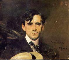 Giovanni Boldini Portrait of Sem (Georges Goursat) 1901