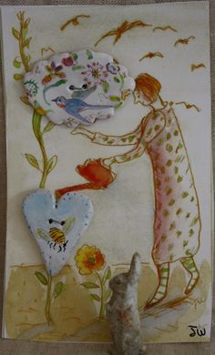 Hold for Iryna by JulieWhitmorePottery on Etsy