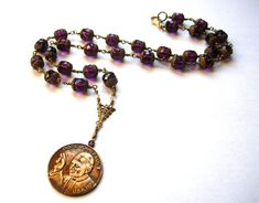 Priest Necklace  Pope Necklace  Long by BohemianGypsyCaravan