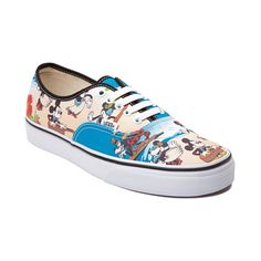 Hang ten in style with Mickey Mouse and the Authentic Aloha Mickey Skate Shoe from Vans! The Aloha Mickey Sneaker rocks graphics of Mickey and the gang printed Disney Vans, Disney Shoes, Disney Outfits, Disney Mickey, Skate Shoes, Vans Shoes, Shoes Sneakers, Shoes Heels, Flats