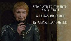 Not a Cersei fan but the sparrow and his fanatics had to go. Shame about the Tyrells though
