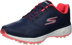 These spiked womens go golf pro golf shoes by Skechers come with a rubber sole and a shaft that measures approximately low top from arch! Most Comfortable Golf Shoes, Skechers Store, Ladies Golf, Women Golf, Plastic Shoes, Lit Shoes, Womens Golf Shoes, Womens Clothing Stores, Golf Outfit