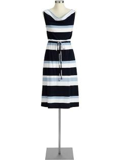 Striped navy dress from Old Navy