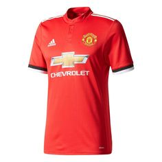 af35b3d27f0cf Adidas Manchester United Home Authentic Soccer Jersey (Real Red/White/Black)