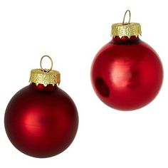 """Check out this item at One Kings Lane! Asst. of 40 1"""" Shiny Ornaments, Red"""