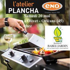 Atelier Plancha ENO samedi 20 mai chez Babée Jardin à Olivet - Orléans (45) - Cours de cuisine à la plancha avec un chef pour apprendre à cuisiner sur la Plancha ENO. Conseils et astuces de cuisson et de nettoyage. Cours de cuisine sur réservation auprès du magasin au 02 38 69 16 06