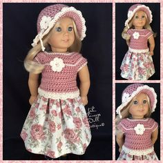 """Lot of 10 Doll Clothes fit 18/"""" American Girl Doll Daisy Dress Doll Cat Skirt #4"""