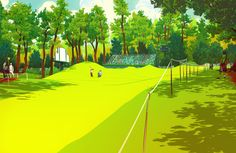 Image of The Masters 8th Hole Giclée Print by Nathan Fox