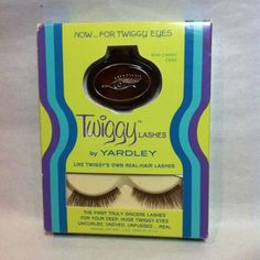 ©1967 TWIGGY Yardley Eye Lashes unused MOC Mod Fashion Model