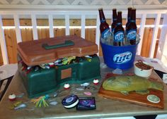 Tackle Box Groom's Cake