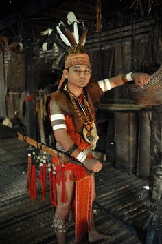 "h-madedesigns: "" Iban Warrior found in Southern Sarawak, Malaysia. "" keling sigat :P"