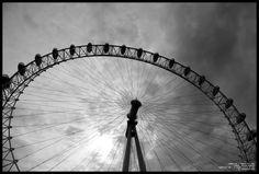 black and white urban art | London Eye, Black and White by *sicmentale on deviantART