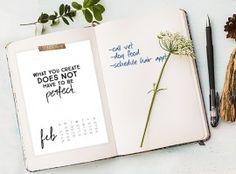 February 2016 Calendar with inspirational quote! www.livelaughrowe.com