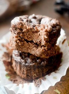 Healthy 3 Ingredient Chocolate Muffins