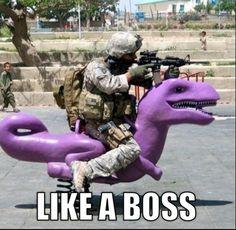 like a boss #militaryhumor