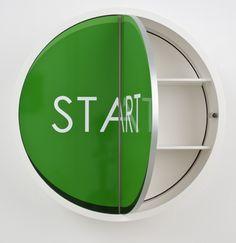"""Runder Wandschrank  """"Start"""" by Möbel Edition St..."""