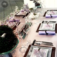 Romantic Table Setting With Square Dinnerware Designed by www.the-glass-co.com ● Code: TS9 ● Contact us at info@myglassstudio.com