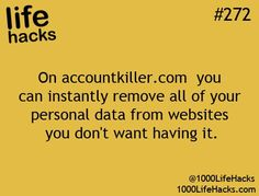 Great site to use for deleting personal information from social sites that you dont want to have your info on.