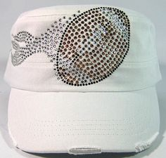 Rhinestone Football Bling Cadet Hats - Western Vintage Cap for Women Bulk