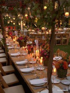 Hermosa decoración para bodas de otoño