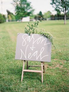 Simple calligraphy sign: http://www.stylemepretty.com/2016/06/02/mississippi-family-farm-wedding-elegant/ | Photography: Lauren Kinsey - http://laurenkinsey.com/