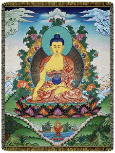 Shakyamuni Buddha Tapestry Blanket Taoism, Buddhism, Hippie Bedding, Buddhist Art, Deities, Trippy, Psychedelic, Meditation, Tapestry