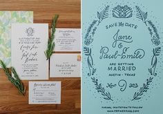 Hand lettered wedding invite | Photo by The Nichols | Read more - http://www.100layercake.com/blog/?p=67856