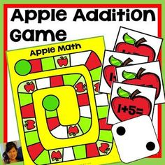 Apple Unit Bundle includes the history of Johnny Appleseed with a printable book, addition, subtraction games, and subitizing with apples! First Grade Classroom, First Grade Math, Second Grade, Math Addition Games, Math Games, Reading Stations, Math Stations, Writing Activities, Classroom Activities