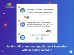 By sending notifications and appointment reminders, salons and spas can increase the communication with clients & employees and decrease the number of missed appointments. Features are: • Send Staff Notification. • Send Appointment Reminders. • Birthday and Anniversary greetings. • E-Invoices and much more. #salonsoftware #spasoftware #salonmanagementsoftware #beautysalonsoftware #sendnotifications #reminders #hairsalonsoftware #saas #salontoday Invoice Sent, Anniversary Greetings, Salon Software, Salon Business, Third Way, On Today, Game Changer, Spas, Appointments