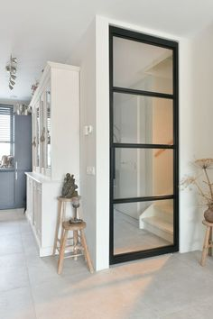 Black Steel Doors With Glass – The Marble Home Home Living Room, Interior Design Living Room, Style At Home, Steel Doors, Glass Door, Interior Inspiration, Home Fashion, New Homes, House Design
