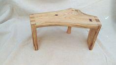 A little live-edge step stool. Honey Locust.