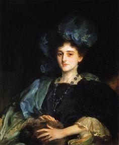 """Katherine Lewis"" (1906) by John Singer Sargent (1856-1925)."