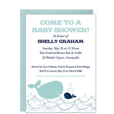Wales Baby Shower Invitation- For a nautical theme