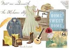 """lyrical style. """"Oklahoma Sky"""" by dljack75 on Polyvore. Inspired by song from Miranda Lambert."""