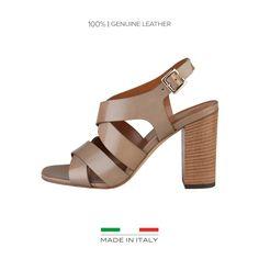 Made in Italia Sandale cu toc gros Loredana, taupe