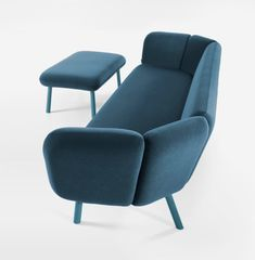 Bras Sofa System by Khodi Feiz for Artifort is more comfortable for the user thanks to the faceted corners that hug you into a casual position.