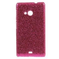 Mesh - Microsoft Lumia 535 Hoesje - Back Case Hard Glitter Roze | Shop4Hoesjes