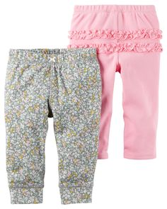 Carter's Little Baby Basics Girl Pants Baby Girl Bottoms, Baby Girl Pants, Carters Baby Girl, Baby Leggings, Leggings Are Not Pants, Newborn Outfits, Girl Outfits, Pink Olive, Ruffle Pants