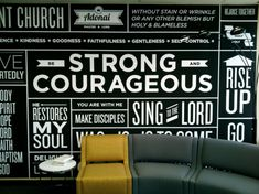 Typography Wall-this would be awesome in a basement, movie room or bathroom.