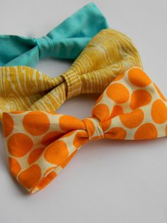 DIY: Simple Fabric Bow Tutorial!  Tommy will look so cute in a bow tie and vest :)