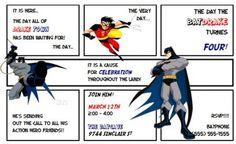 Lots of Batman themed printables