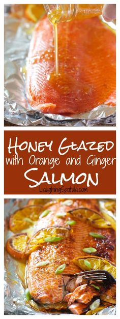 30 Minute Meal with Easy big flavored glaze.and easy clean up! Orange Salmon Recipes, Orange Glazed Salmon, Baked Salmon Recipes, Fish Recipes, Seafood Recipes, Cooking Recipes, Healthy Recipes, Recipies, Weekly Recipes