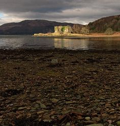 """Otter Ferry, Scotland, 2009.  The remains of the """"family castle"""" (Castle Lachlan)."""