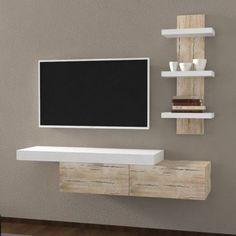 Tv Console Design, Tv Unit Furniture Design, Home Decor Furniture, Modern Furniture, Small Living Room Design, Living Room Tv, Living Room Designs, Wardrobe Room, Tv Wall Decor