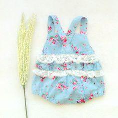 garden #ruffle #romper #soft blue #lace #back #www.botakidsshop.com