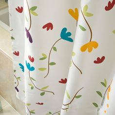 High Grade Country Style Shower Curtain Waterproof Mildewproof Polyester Fabric For Home Hotel Bathroom Decoration