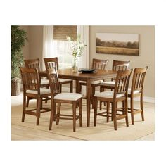 Hillsdale Furniture Bayberry 9-Piece Oak Counter Height Dining Set