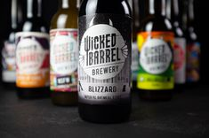 Stefan Andries - Wicked Barrel Brewery - World Brand Design Society / Wicked Barrel is craft brewery founded in 2017 in Romania, where they are considered one of the best breweries in the country. Best Craft Beers, Beer Brands, Beer Packaging, Packaging Design Inspiration, Glass Bottles, Brewery, Beer Bottle, Barrel, Branding Design